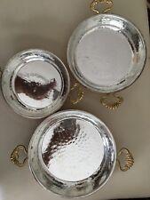Handarbeit Kupfer Spigelei Brat Pfannen/Bakır Sahanda Omlet  Yumurta Tava 3erSet