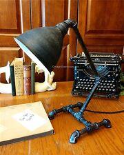 INDUSTRIAL BLACK DESK TABLE LAMP LIGHT FACTORY PIPE STEAMPUNK METAL MODERN NEW
