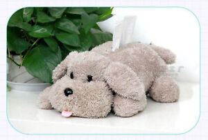 Animal Poodle Plush Tissue Paper Box Puppy Dog Toy Paper Box Home Desk Bed Decor