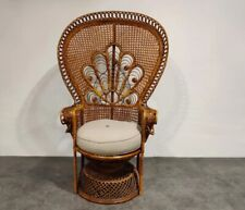 Classic Wicker natural color Peacock Chair, Rattan chair