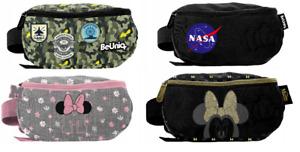 Kinder Damen Jungen Gürteltasche Hüft Bauch Tasche Tarnfarbe NASA Minnie Mouse