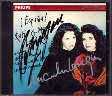 Katia & Marielle LABEQUE Signed ESPANA Falla Lecuona Albeniz Infante espanola CD
