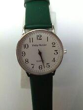 Philip Mercier, Batt, Analogue, green strap white face, X Large Watch - New