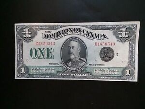 Uncirculated 1923 Dominion Of Canada One Dollar