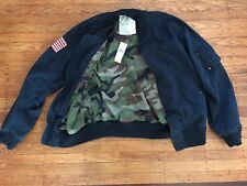 NEW! $165 Denim Supply Ralph Lauren Navy Camo Military Flight Bomber Jacket XXL
