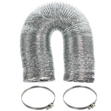 """5m Aluminium Vent Hose 4"""" Exhaust Pipe + 2 x Jubilee Clips for CANDY Dryer"""