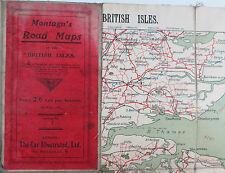 1910 Montagu's road maps of The British Isles Sheet 1 SE England Car Illustrated