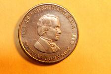 """Vintage Presidential Coin - Andrew Johnson - """"sir veto"""""""