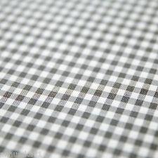 Baumwollstoff Check Karo Vichy Grau Weiß 5mm Groß Karierter Stoff Baumwolle