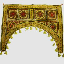 Türbehang Toran Thorang  Patchwork 100 cm Rundbogen Baumwolle Wandbehang Gelb rb