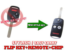 FLIP KEY REMOTE FOB CHIP TRANSPONDER For HONDA 2007-2011 CRV CR-V KC3J