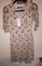 Vila vintage ivory floral lace dress brand new with tags size M (UK 10)