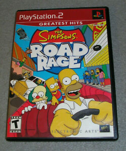 Playstation 2 PS2 Game The Simpsons Road Rage COMPLETE TESTED & WORKING