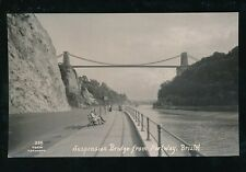 Gloucestershire Glos BRISTOL Suspension Bridge from Portway plain back 1947photo