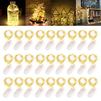 6ft 20LEDs Button Battery Operated Mini LED Wire String Fairy Lights Decor Lot