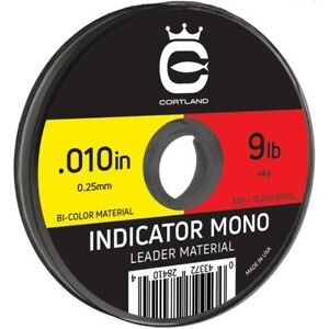 "Cortland Indicator Mono - Bi-Colour Red/Yellow - 009"" / 8lb - 50ft"