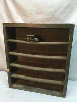 Primitive 6 Tier Curio Wall Shelf Shadow Box 16.5IN X 18.5IN X 4IN Garage Den