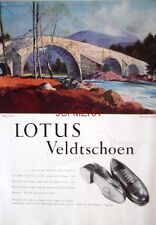 1951 LOTUS Veldtschoen Shoe Advert 'Brig o'Dee' - Rowland Hilder Art Print AD