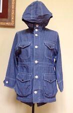 Gap Women's Jean Hooded Jacket 3/4 Sleeve Size 8
