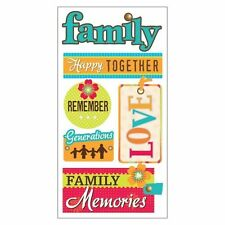 SANDYLION ESSENTIALS FAMILY MEMORIES DIMENSIONAL 3D SCRAPBOOK STICKERS