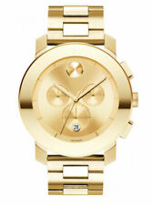 New Movado Bold 3600141 Chronograph Gold-Tone Stainless Steel Men's Watch