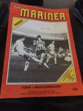 Grimsby Town V Middlesbrough 1984 Soccer/football Programme