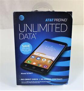 Alcatel TETRA AT&T Prepaid 16GB Smartphone W/2 Megapixel Selfie Camera, Black