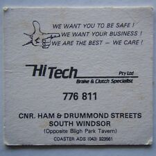 HI TECH BRAKE & CLUTCH SPECIALISTS HAM & DRUMMOND SOUTH WINDSOR 776811 COASTER