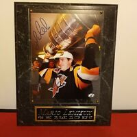 MARIO LEMIEUX SIGNED PLAQUE  CERTIFIED VERY NICE 12X15 INCHES PIECE OF HISTORY