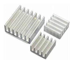 3pcs Heatsink Aluminium Cooler with 3M Thermal Adhesive Pads for Raspberry Pi
