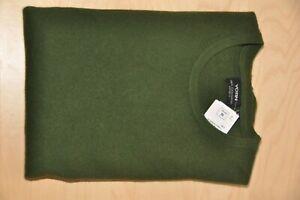 YORN * 100% Kaschmir Pullover * Gr. 56 * Rundhals-Ausschnitt * Olive Dark Green