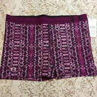 "Under Armour Womens XL X-Large Compression Shorts 3"" 1257804-697 Purple Print"