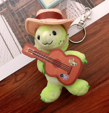 NEW Disney Friend of Duffy Olu The Turtle with Guitar keychain Plush Toy