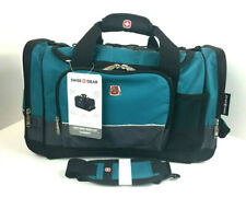 SWISS GEAR Sport Duffel Bag Teal Gray Black Travel Gym SA9000 New