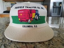 FAIRFIELD TRACTOR CO. INC. NEW HOLLAND WHITE TRUCKER HAT SNAPBACK COLUMBIA,SC
