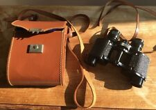 Vintage AURORE Binoculars 8x26 magnification made in France leather case, straps