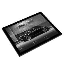 A3 Glass Frame BW - Vintage Black Sports Car Classic Mens  #42353