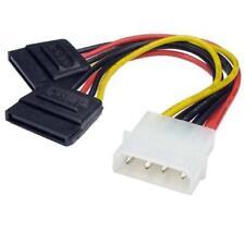 Molex to 2 SATA Dual Power Y Splitter Adaptor adapter Cable 2 Way 4 Pin -15 Pin