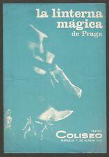 Programme Coliseo Teather La Linterna Magica De Praga 1969