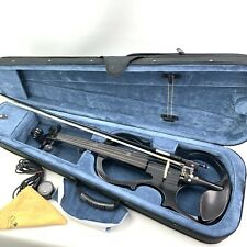 Black Cecilio Silent Electric Violin HVPV-30 with Case and Bow