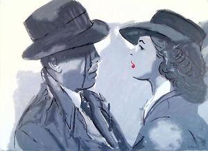 Philippe LE MIERE casablanca kiss hollywood cinema movie classic original signed