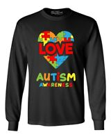 Love Puzzle Heart Autism Awareness Long Sleeve Support Love Kind Shirts