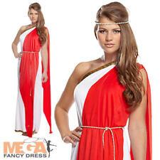Roman Empress Toga señoras Vestido De Griega Grecian Para Mujer Disfraz UK 10 12 14