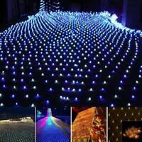 96/200/880LED Net Mesh Light Christmas Party Fairy Garden String Lamp Xmas Decor