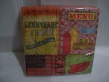 BBQ Summer Cookout Picnic Paper Luncheon Napkins