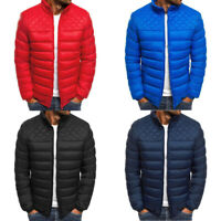 Men's Jacket Quilted Ultralight Outwear Bomber Padded Bubble Puffer Parka Coat