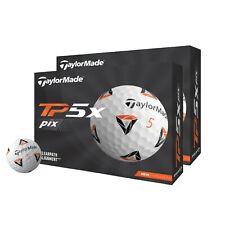 Taylormade TP5X Pix 2.0 White Golf Balls - Combo 2 Dozen 2021