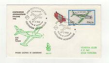 FDC Italie tampon à date 1982 Aéronotique Construzioni Aeronautiche /B5FDC