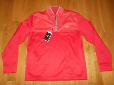 NWT CALLAWAY 1/4 Zip Lightweight Fleece Golf Pullover Jacket Shirt Men XL UPF 50