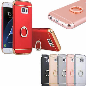 Hybrid thin phone Case Cover Ring Finger holder For Samsung Galaxy Model phones